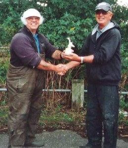 A Beard receiving trophy from J Woodhams