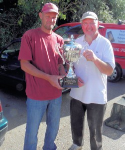 Heybridge Basin M Burrell receiving trophy from Lloyd